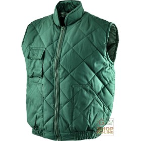 VEST COTTON POLYESTER COLOR GREEN TG S M L XL XXL XXXL