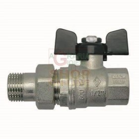 BALL VALVE WITH NIPPLE AND BUTTERFLY 1 TOTAL PASSING