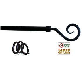KIT, CURTAIN ROD IRON, ANTHRACITE AIMS TO CURL CM.120-210