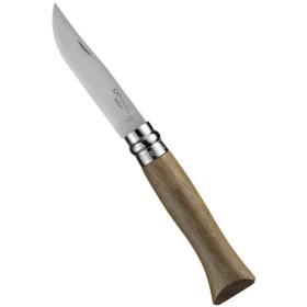 KNIFE OPINEL STAINLESS STEEL BLADE-HANDLE IN WALNUT No. 6