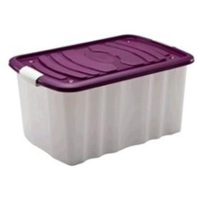 ROLL BOX IN PLASTICA E COPERCHIO E RUOTE CM. 59X39X43 LT. 65