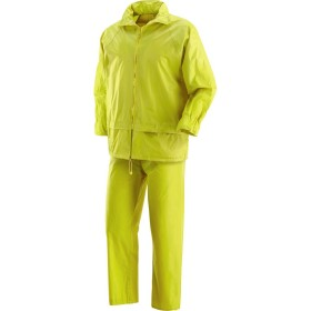 THE FULL JACKET AND PANTS WATERPROOF BOAT YELLOW POLIESTRE AND