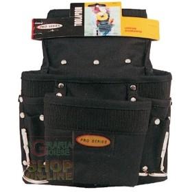 BAG FOR CARPENTERS, PRO BLACK MULTIPOCKETS
