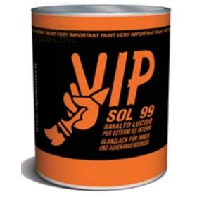 VIP SOL 99 SMALTO LUCIDO PER LEGNO E FERRO 02 NERO LUCIDO ML.