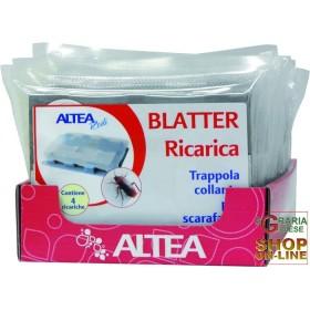 BLATTER RICARICA 4 TRAPPOLE COLLANTI PER INSETTI STRISCIANTI