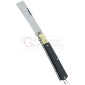 KNIFE MOZZETTA HANDLE FAUX HORN BLADE STEEL CM. 17