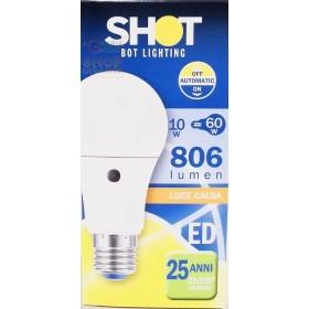 Lampada a Goccia E27 con sensore crepuscolare lumen 806 luce