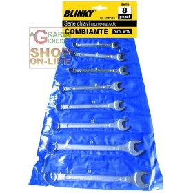 BLINKY SERIE DI CHIAVI COMBINATE PZ. 8 CROMOVANADIO MM. 6/19