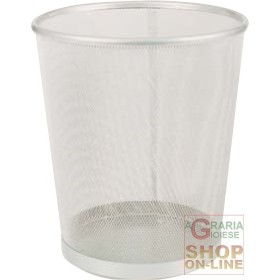 Wastepaper BASKET SILVER 27x30H SILVER FOR the OFFICE