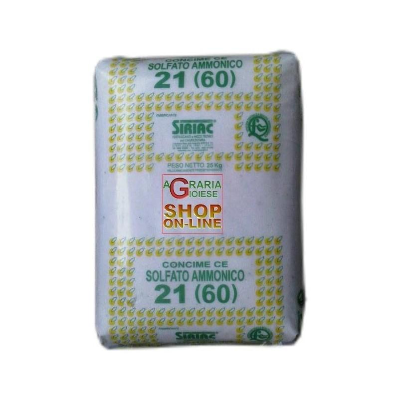SOLFATO AMMONICO KG. 25 CONCIME A BASE DI AZOTO 21% SIRIAC