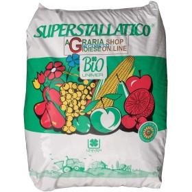 SUPERSTALLATICO PELLETTATO LETAME BOVINO ED EQUINO CONSENTITO IN AGRICOLTURA BIOLOGICA kg. 25