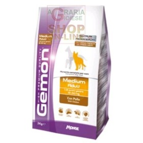 GEMON FEED FOR DOGS MEDIUM ADULT WITH CHICKEN KG. 3