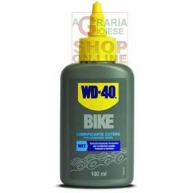 LUBRIFICANTI BIKE WD-40 WET-UMIDO LIQUIDO ML. 100