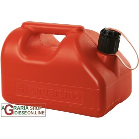 TANK RED PLASTIC FUEL APPROVED BY THE LT. 5