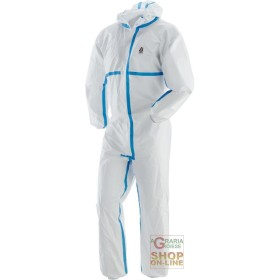 COVERALL DISPOSABLE NON-WOVEN HOOD ZIP CLOSURE WITH WELDED