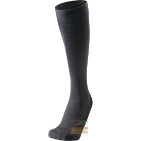 TECHNICAL SOCKS LONG COMPOSED OF MICROFIBER, POLYAMIDE, BLACK
