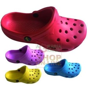 VIGOR CLOGS EVA PERFORATED COLORS ASSORTED TG. 27 TO 34
