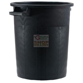 BIN BLACK STACKABLE WITHOUT THE LID ON LT. 50 ICS