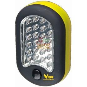 VIGOR TORCIA A LED OVALE CON GANCIO 27 LED