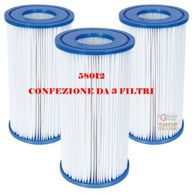 BESTWAY 3 CARTRIDGE FILTERS 3 FOR PUMP 5.678 LT/H COD. 58012