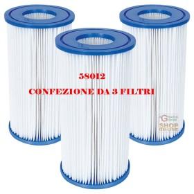 BESTWAY 3 FILTRI A CARTUCCIA 3 PER POMPE DA 5.678 LT/H COD.