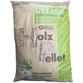 Holz good pellet for stoves high heat output kg. 15