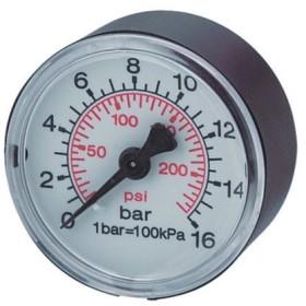 MANOMETRO PER AUTOCLAVE DIAM. 63 0-12 BAR SECCO 1/4