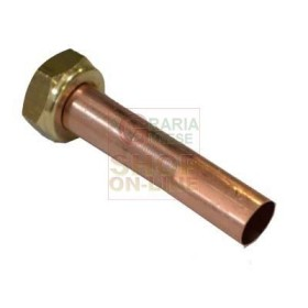 COPPER TUBE STRAIGHT FOR BOILERS MM 18 X 180 MM. FOLDER, 3/4 IN.
