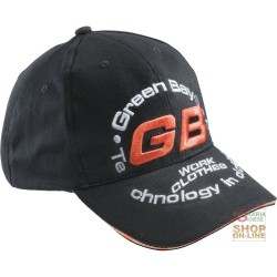 CAP 100% COTTON VISOR LOGO GB TINC COLOR BLACK
