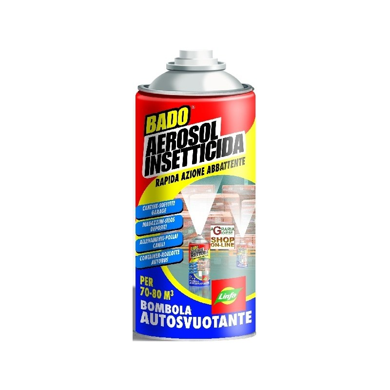 LYMPH AEROSOL INSECTICIDE SPRAY CAN FOR SELF-EMPTYING AND ML.