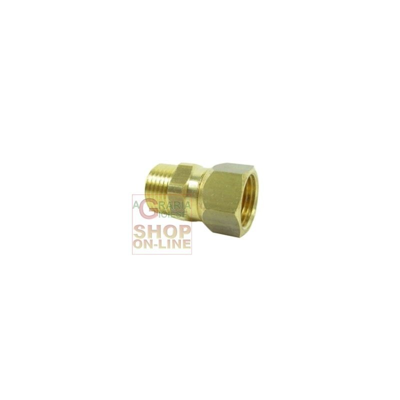 BRASS COUPLING SWIVEL 1/2 IN