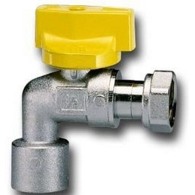 FAUCET BALL GAS TEAM FOR WATER HEATER, WITH HANDLE