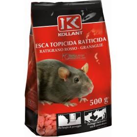 KOLLAN BAIT POISON-RAT POISON RODENTICIDE GRANULAR RED GR. 500