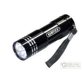Einhell Torcia a batteria tascabile colorata a 9 LED