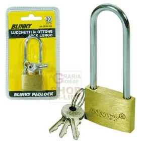 BLINKY LUCCHETTO IN OTTONE 3617 ARCO LUNGO MM. 30