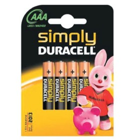 DURACELL BATTERIA MINI STILO PZ 4