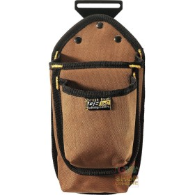 BAG CARPENTER 1 POCKET FABRIC CANVAS COLOR BROWN