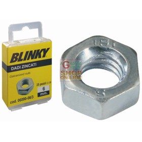 BLINKY-STEEL NUTS, ZINC PLATED BLISTER MM. 4
