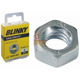BLINKY-STEEL NUTS, ZINC PLATED BLISTER MM. 5