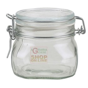 BORMIOLI GLASS JARS FIDO WITH AIRTIGHT CAP CL. 50