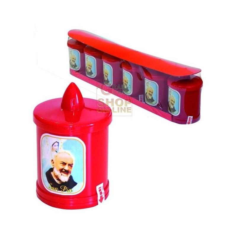 LAMP VOTIVE ELECTRIC BATTERY MOD. FATHER PIO LED