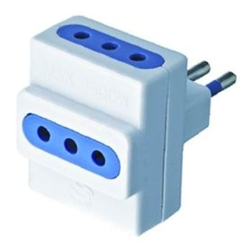 ADAPTER DOUBLE SOCKET TRIPLE 10A WITH EARTH