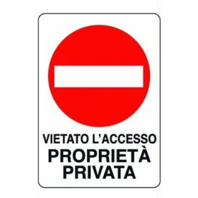 SIGN SIGNAL PRIVATE PROPERTY MM. 300X200