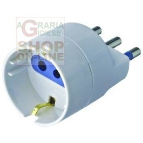 ADAPTER 10A WITH T FOR SCHUKO SOCKET