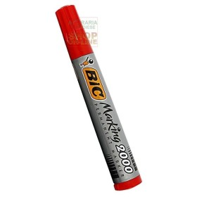 BIC PERMANENT MARKER PLASTIC DRUM WITH ROUND TOE COLOR RED