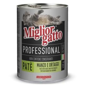 MIGLIORGATTO PATE PROFESSIONAL BEEF/VEGETABLES GR. 400