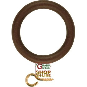 RINGS of PLASTIC WITH a HOLE D. 46 X 66 WALNUT (conf. 10 pcs)