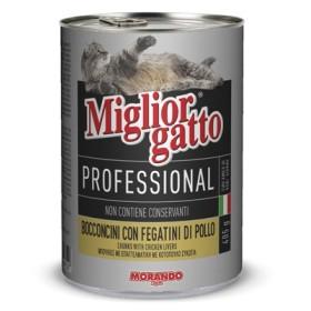 MIGLIORGATTO PROFESSIOLNAL CON FEGATINI DI POLLO GR. 405