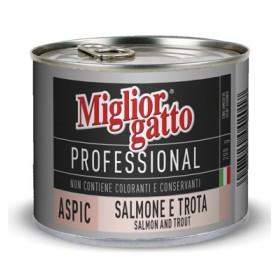 MIGLIORGATTO PROFESSIONAL ASPIC CON SALMONE E TROTA GR. 200