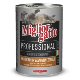 MIGLIORGATTO PROFESSIONAL CON GAMBERETTI E SALMONE GR. 405